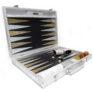 Luxury Games Backgammon silver snake